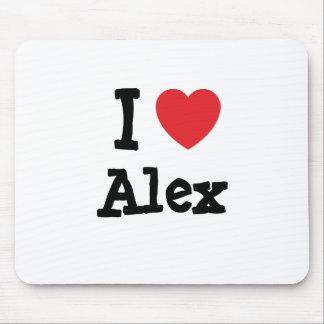 I love Alex heart custom personalized Mouse Pad