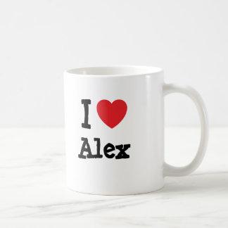I love Alex heart custom personalized Coffee Mug