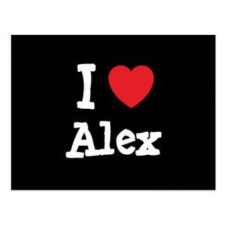 I love Alex heart custom personalized Postcards