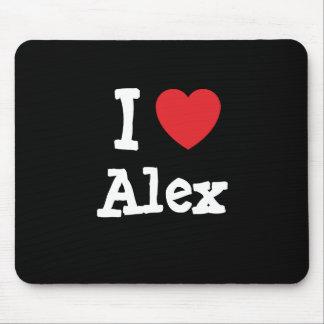 I love Alex heart T-Shirt Mouse Mat