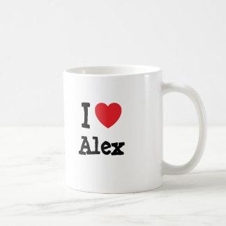 I love Alex heart T-Shirt Coffee Mug