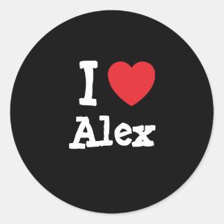 I love Alex heart T-Shirt Round Sticker