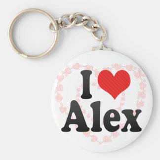 I Love Alex Keychain