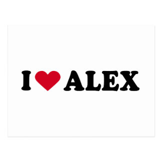 I LOVE ALEX POSTCARD