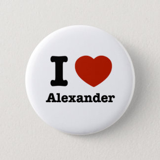 I love Alexander Pinback Button