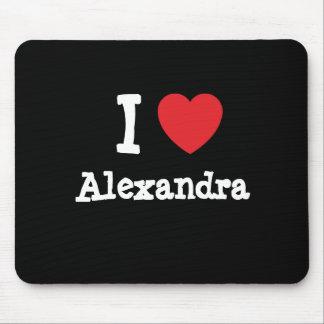 I love Alexandra heart T-Shirt Mouse Mat