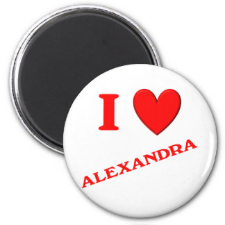 I Love Alexandra Magnet