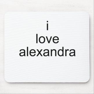 I Love Alexandra Mousepad