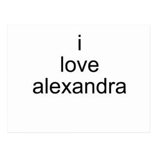 I Love Alexandra Postcard
