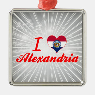 I Love Alexandria, Missouri Ornaments