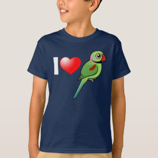 I Love Alexandrine Parakeets T-Shirt