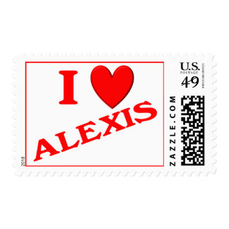 I Love Alexis Stamp