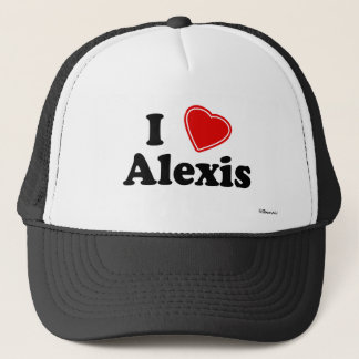 I Love Alexis Trucker Hat
