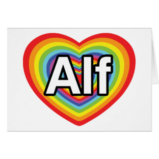I love Alf, rainbow heart Greeting Card