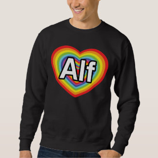 I love Alf, rainbow heart Pull Over Sweatshirt