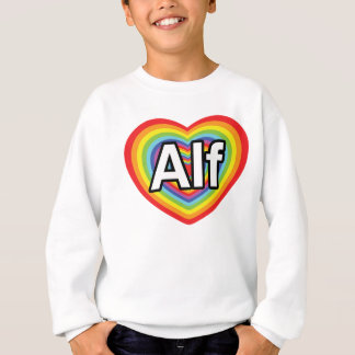 I love Alf, rainbow heart Sweatshirt