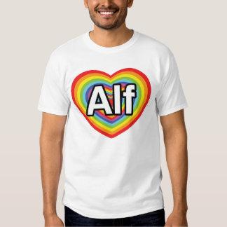 I love Alf, rainbow heart T Shirt