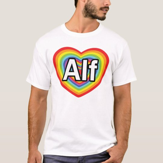 I love Alf, rainbow heart T-Shirt
