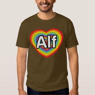 I love Alf, rainbow heart T-shirts