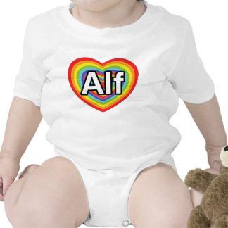 I love Alf, rainbow heart T Shirts