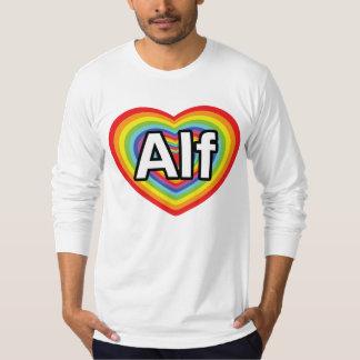 I love Alf, rainbow heart Tee Shirts