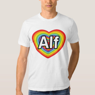I love Alf, rainbow heart Tshirt