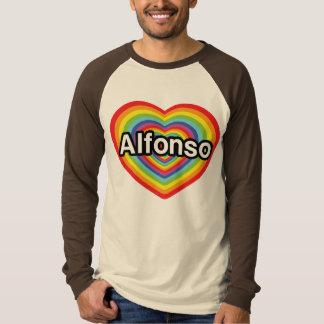 I love Alfonso, rainbow heart T-Shirt