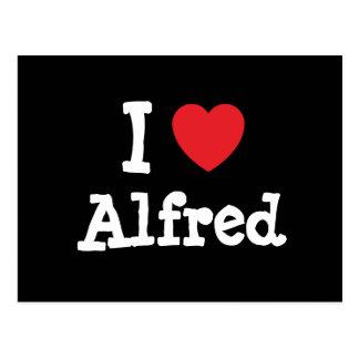 I love Alfred heart custom personalized Postcard