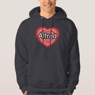 I love Alfred. I love you Alfred. Heart Hoodie