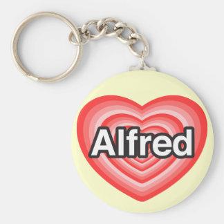 I love Alfred. I love you Alfred. Heart Keychain