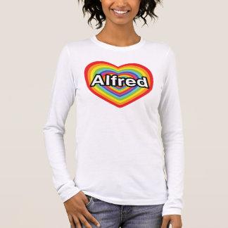 I love Alfred, rainbow heart Long Sleeve T-Shirt