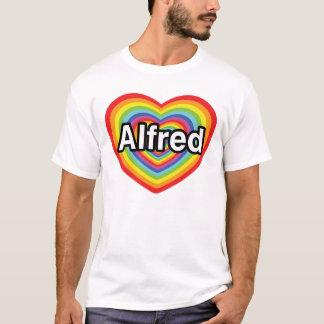 I love Alfred, rainbow heart T-Shirt