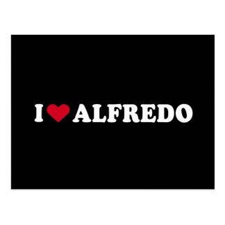 I LOVE ALFREDO POSTCARD