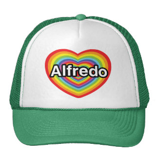 I love Alfredo, rainbow heart Trucker Hat