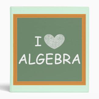 I Love Algebra 3 Ring Binders