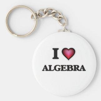 I Love Algebra Basic Round Button Keychain