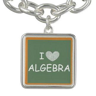 I Love Algebra Charm Bracelet