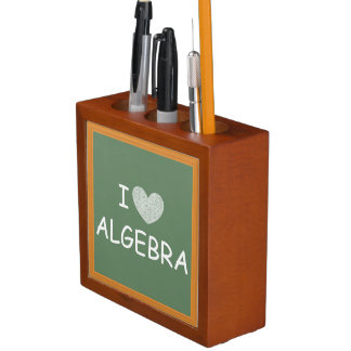 I Love Algebra Desk Organizers