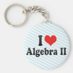 I Love Algebra II Key Chain