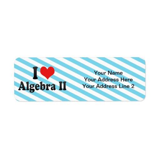 I Love Algebra II Return Address Labels