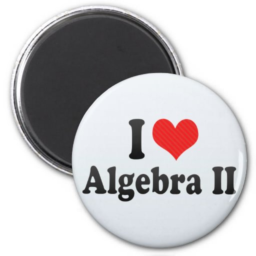 I Love Algebra II Magnets