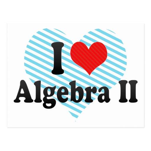 I Love Algebra II Post Card