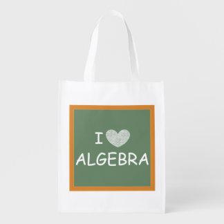 I Love Algebra Reusable Grocery Bags
