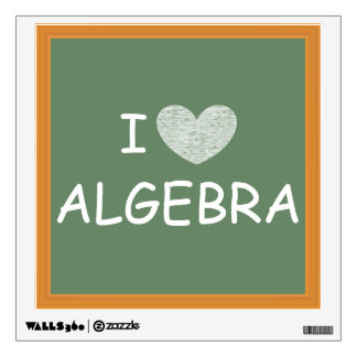 I Love Algebra Wall Decal
