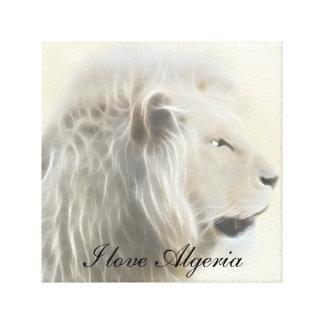 I love Algeria Africa Canvas Print