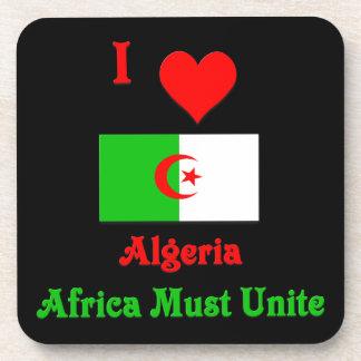 I Love Algeria, Africa Must Unite Drink Coaster