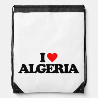 I LOVE ALGERIA CINCH BAGS