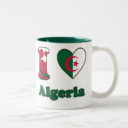 I love Algeria Two-Tone Coffee Mug