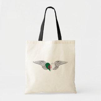 I Love Algeria -wings Budget Tote Bag