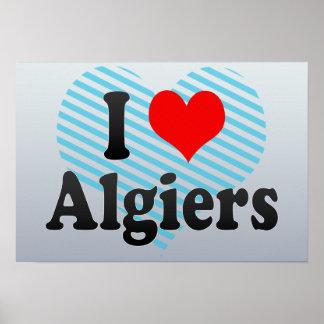 I Love Algiers, Algeria Posters